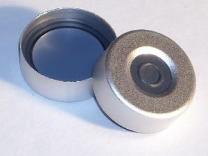 Part Number CHL2-3940_20mm Aluminum Crimp Seal with Molded PTFE-faced Butyl Rubber Septum with Sealing Ring